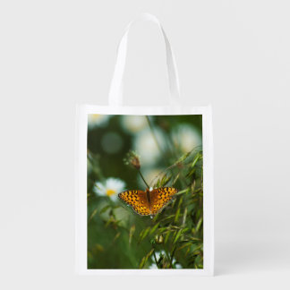 Pacific Fritillary Butterfly Grocery Bag