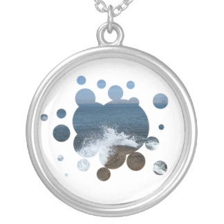 Pacific Froth Round Pendant Necklace