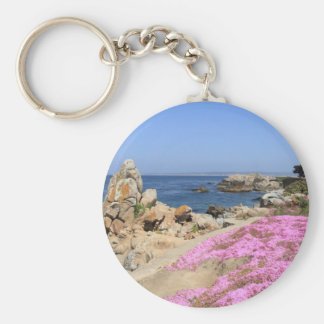 Pacific Grove Basic Round Button Keychain