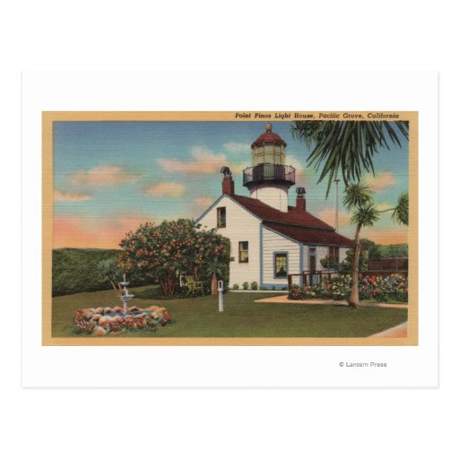 Pacific Grove, CA - Point Pinos Light House View Postcard
