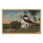 Pacific Grove, CA - Point Pinos Light House View Poster