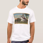 Pacific Grove, CA - Point Pinos Light House View T-Shirt
