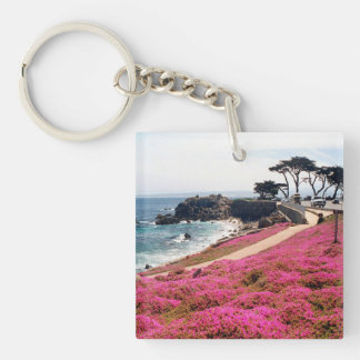 Pacific Grove-Monterey Calif Double-Sided Square Acrylic Keychain