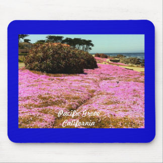 Pacific Grove Pink Flowers Mouse Pad