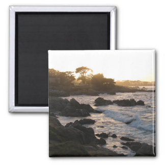 Pacific Grove Sunset 2 Inch Square Magnet