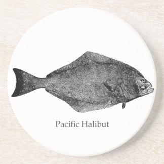 Pacific Halibut Logo Coaster