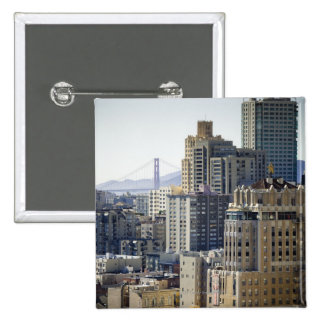 Pacific Heights and Golden Gate Bridge Pinback Button
