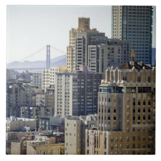 Pacific Heights and Golden Gate Bridge Large Square Tile