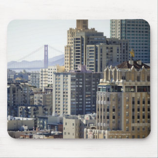 Pacific Heights y puente Golden Gate Mousepad