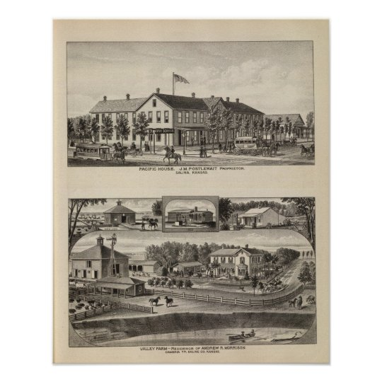 Pacific House, Salina Valley Farm, Kansas Poster