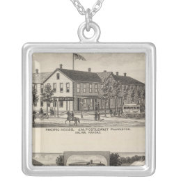 Pacific House, Salina Valley Farm, Kansas Silver Plated Necklace