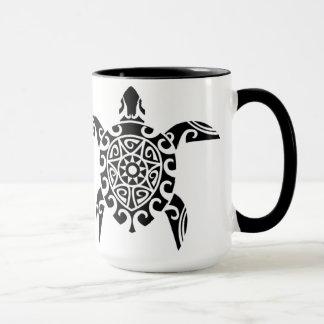Pacific Island design tattoo style Turtle Cup Mug