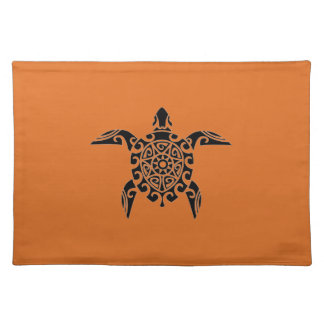 Pacific Island design tattoo style Turtle Placemat