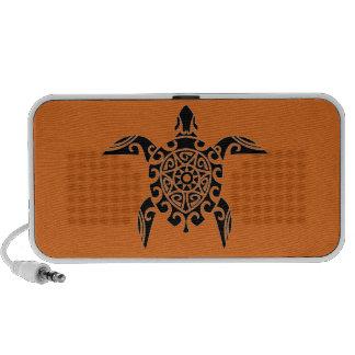 Pacific Island design tattoo style Turtle Speaker