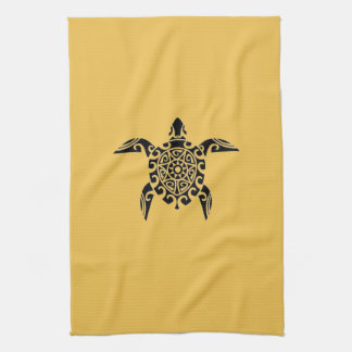 Pacific Island design tattoo style Turtle Towel
