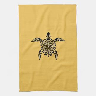 Pacific Island design tattoo style Turtle Towel