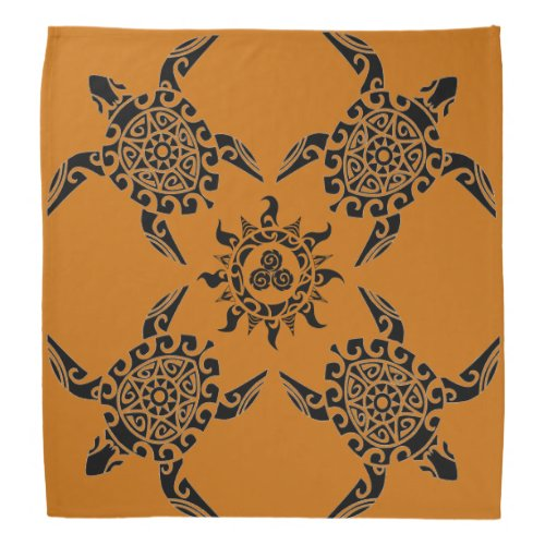 Pacific Island design tattoo Turtle Bandana