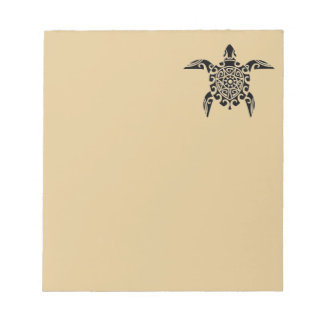 Pacific Island design tattoo Turtle Notepad