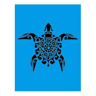 Pacific Island design tattoo Turtle Postcard