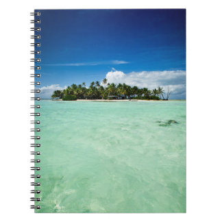 Pacific island with palm trees notebook