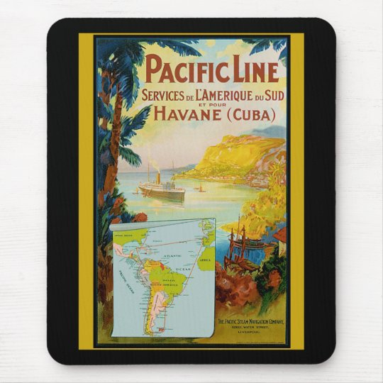 Pacific Line Vintage Travel Mouse Pad