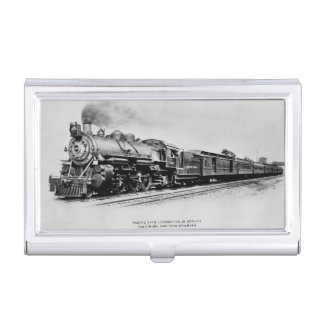 Pacific Locomotive of the Baltimore and Ohio Rail Business Card Holders