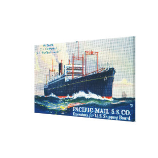 Pacific Mail SS Company on USS President Canvas Print