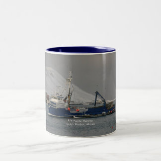 Pacific Mariner, Crab Boat in Dutch Harbor, Alaska Two-Tone Coffee Mug
