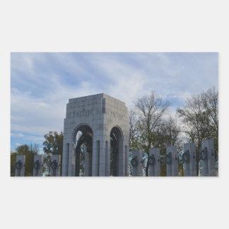 Pacific Memorial WWII Memorial Rectangular Sticker