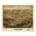 Pacific Missouri 1869 Antique Panoramic Map Posters