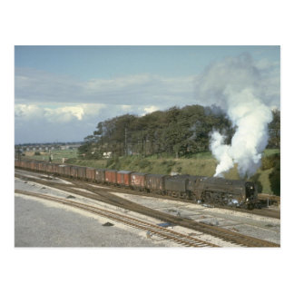 Pacific No. 70010 powers a freight out of Kingmoor Postcard