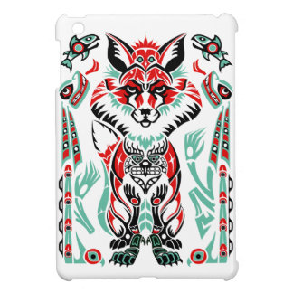 Pacific North Coastal Native American Indian Fox iPad Mini Cover