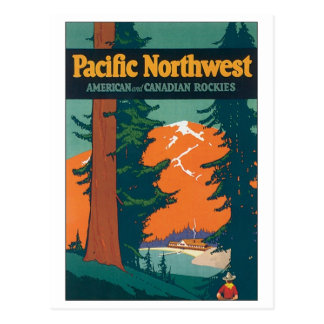 Pacific Northwest American and Canadian Rockies Postcard