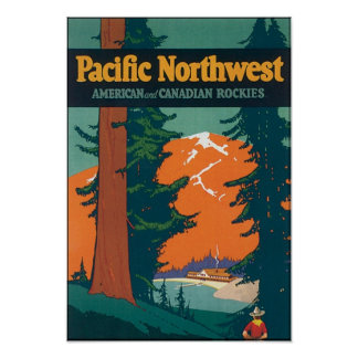 Pacific Northwest American and Canadian Rockies Posters