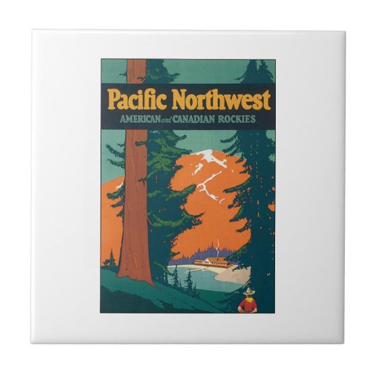 Pacific Northwest American and Canadian Rockies Tile