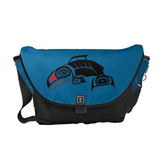 Pacific Northwest Native American Art Whale Courier Bag