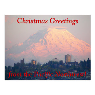 Pacific Northwest Photo Christmas Holiday Postcard