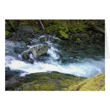 malhcreations Pacific Northwest Rushing Water Card