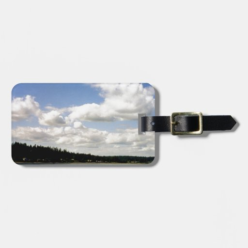 Pacific Northwest Summer Sky Bag Tags