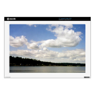 Pacific Northwest Summer Sky Laptop Decal