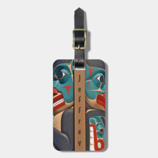 Pacific Northwest Totem Design Luggage Tags