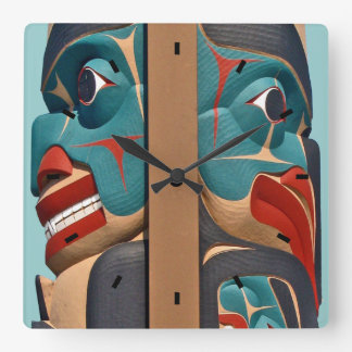Pacific Northwest Totem Design Wall Clock