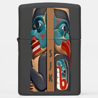 Pacific Northwest Totem Design Zippo Lighter
