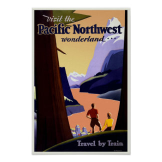Pacific Northwest Travel Vintage Poster