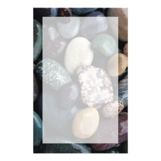 Pacific Northwest USA, Colorful river rocks Stationery