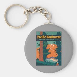 Pacific Northwest Vintage Keychain