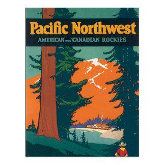 Pacific Northwest Vintage Postcard