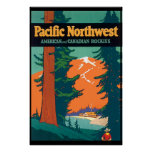 Pacific Northwest Vintage Poster Reproduction