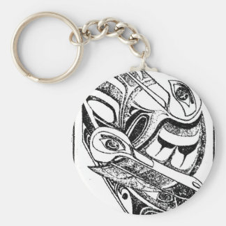 Pacific NW Coast Native Totem Raven and Seagull Keychain