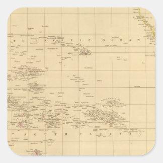 Pacific Ocean 3 Square Sticker